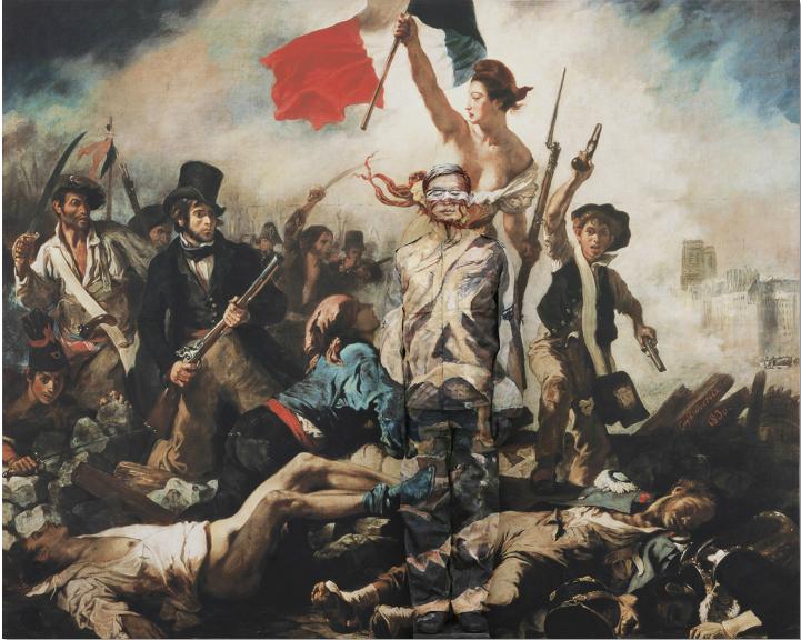 La liberté guidant le peuple (d'après E. Delacroix) 2013