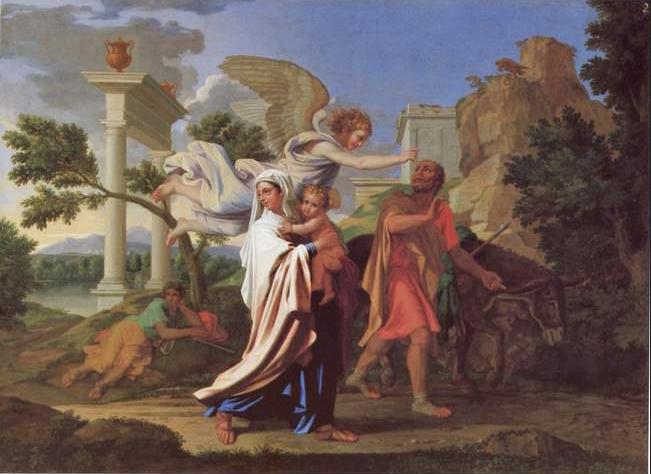 Nicolas Poussin. La fuite en Egypte. 1657