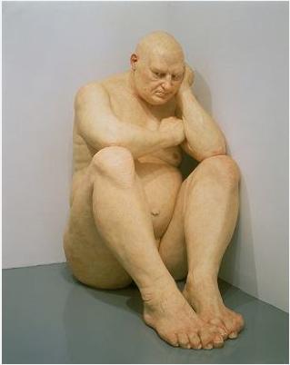 Ron Mueck , le gros homme, 2000