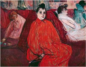 Henrie de Toulouse-Lautrec, Au salon, le divan, 1893