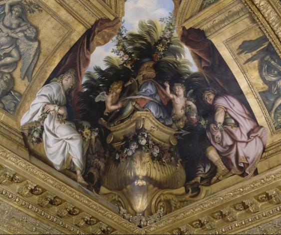 Titus et Bérénice, Dalon de Vénus, Versailles, René-Antoine Houasse, ca.1678