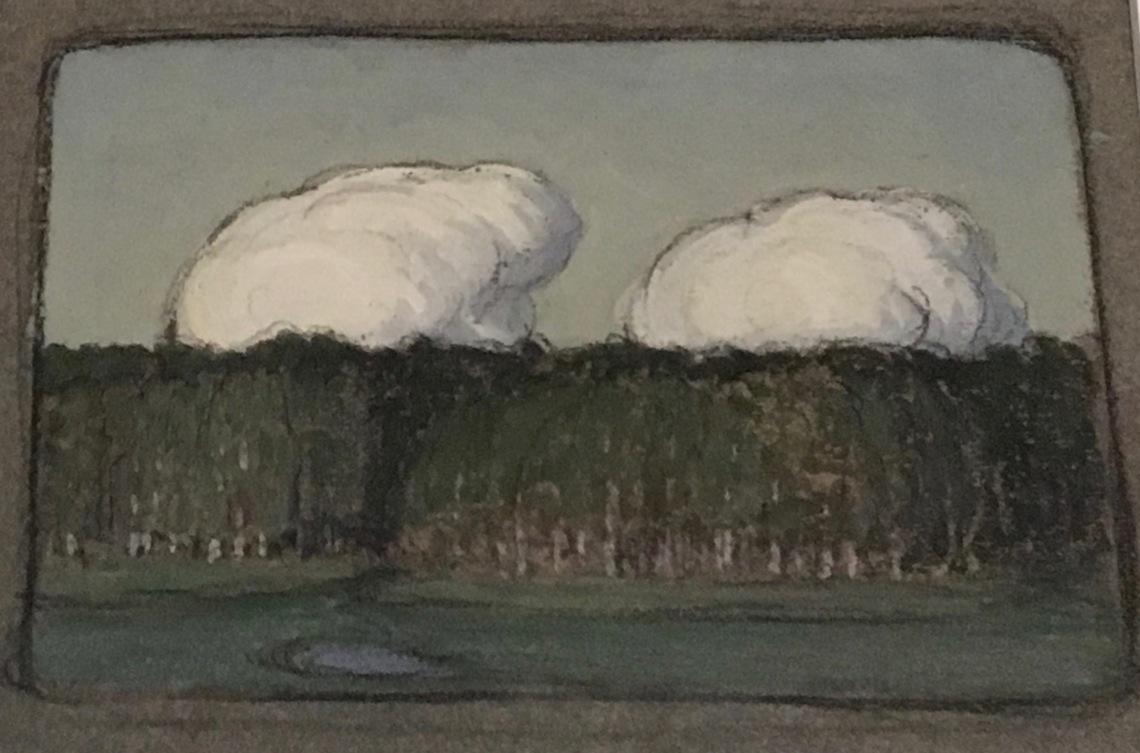 1. P.BALTES Peteris Krastins 1882-1942, Nuages sur la forêt, 1905_1907, Riga, musée national des Beaux-Arts de Lettonie