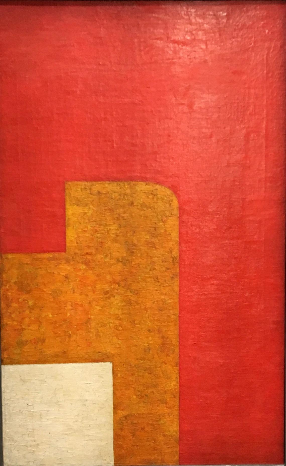 1. Wladylaw Strezminski, Composition architectonique 13 c 1929, huile sur toile. Muzeum Sztuki, Lodz