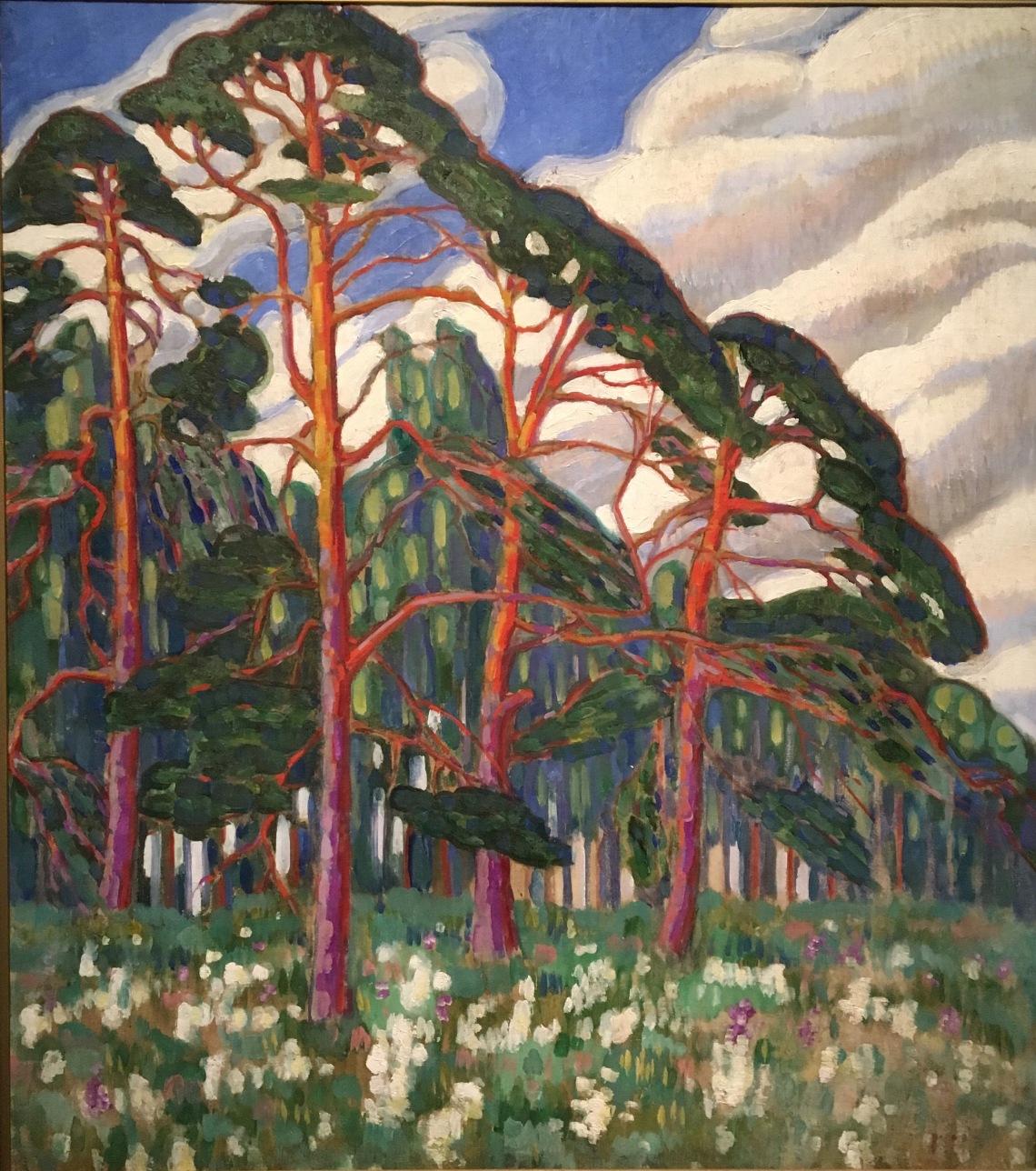 4.P.Baltes. Konrad mägi, 1878-1925, Motif de forêt, 1913 huile sur toile, Tallinn, musée d'Art d'Estonie