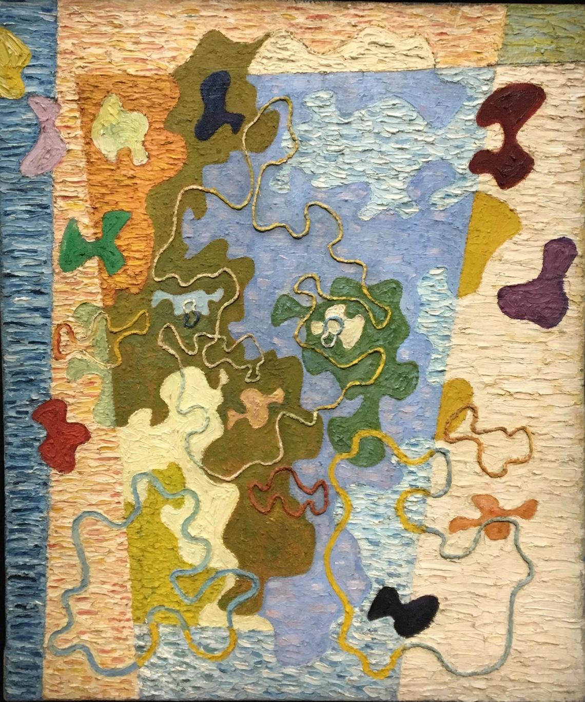 5. Wladylaw Strzeminski, Rémanence lulineuse une femme à la fenêtre, ca.1948. Huile sur toile, Muzeum Sztuki, Lodz.j