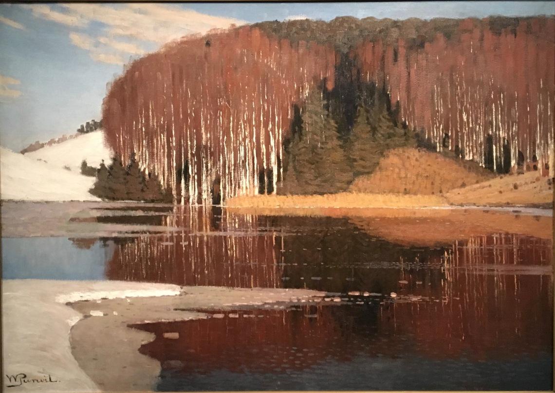 6. Vilhelms Purvitis, 1872-1945, Les eaux printanières, vers 1910, Riga, musée national des Beaux-arts de Lettonie
