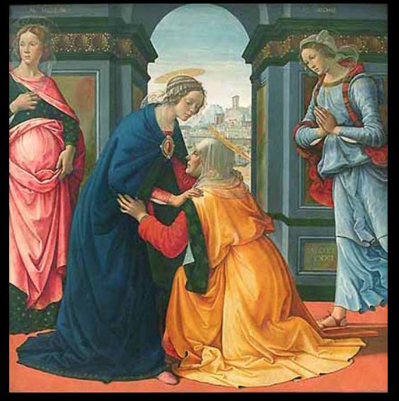 Domenico Ghirlandaio, visitation, 1491
