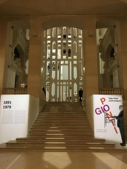 0. entrée de l'exposition gio ponti, musée des arts décoratifs