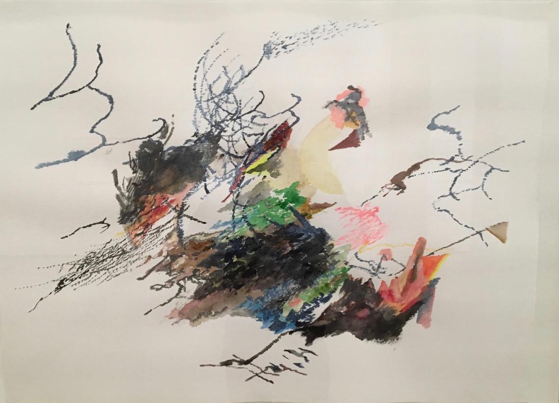 6. julie mehretu, sans titre 2006, aquarelle sur papier. 56x 76, 2 cm collection privée