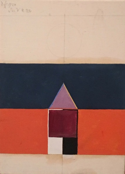 6. Hilma af Klint, Series V, N°3c 1920, oil on canvas, 39,5 x 28,5 cm