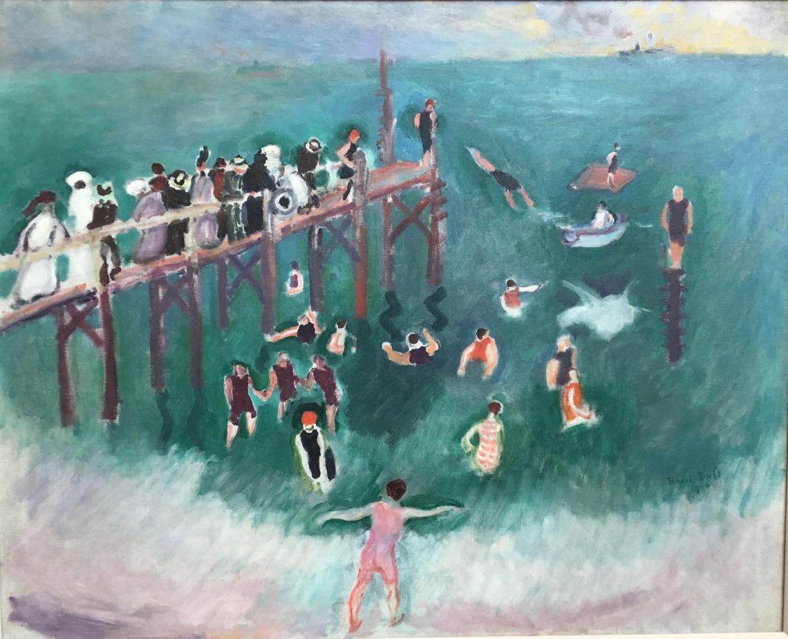 Raoul Dufy, La baignade, 1906 huile sur toile.Coll. particulière