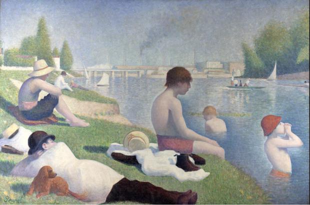 4. Georges Seurat, Baigneurs à Asnières, 1884, National Gallery, London, anc. coll. Félix Fénéon