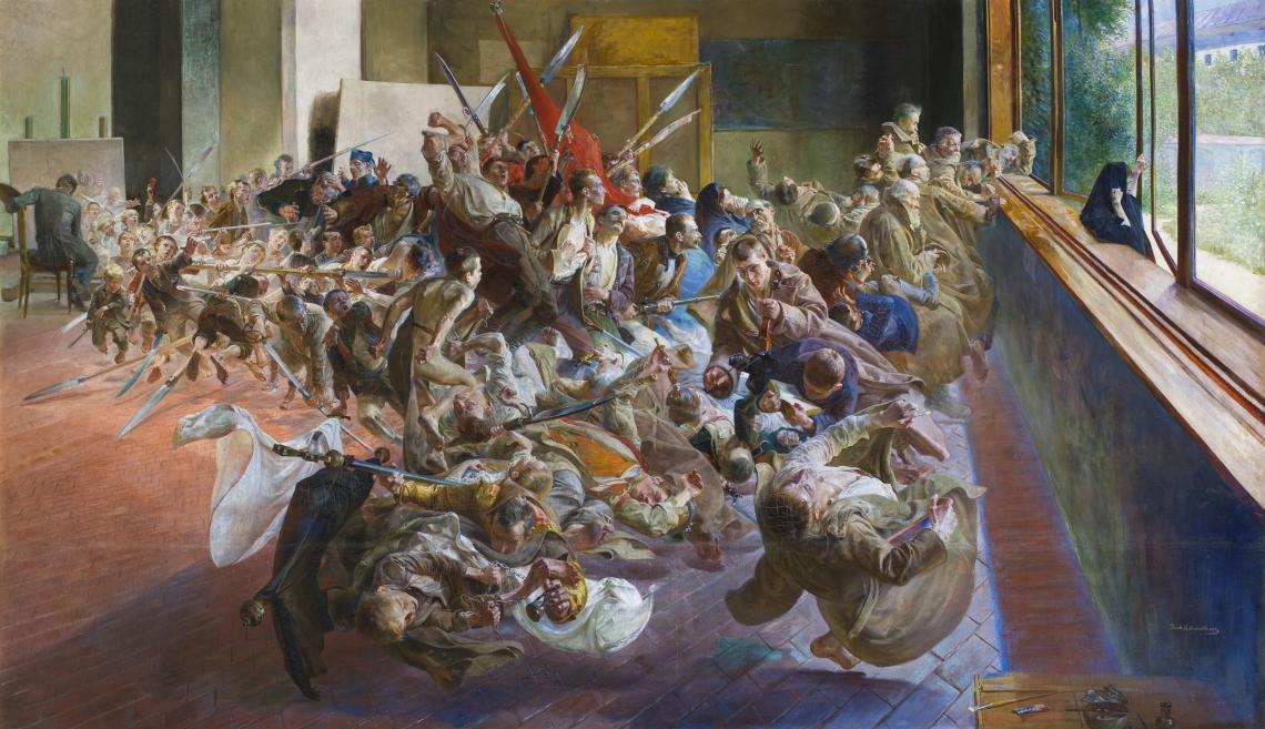 1. Jacek Malczewski, Mélancolie, 1890-1894, huil sur toile, 139,5 x 240 cm. Musée national de Poznan